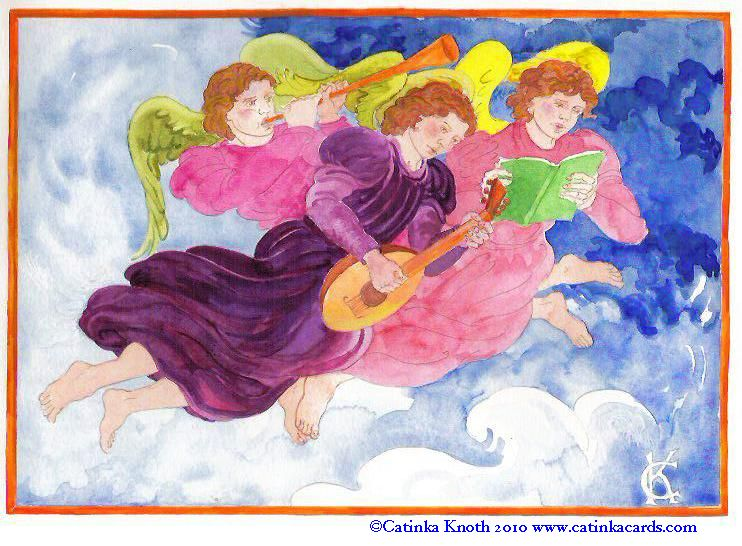 musical angels art