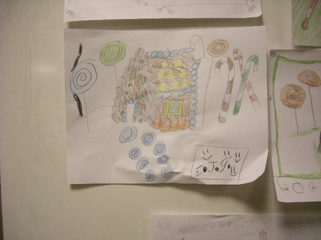 Gingerbread house drawings by kids 02