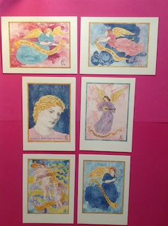 Christmas Angels Cards Set by Catinka Knoth