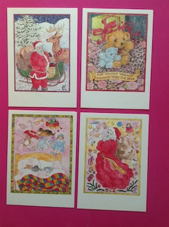 Toys Christmas  Cards Set by Catinka Knoth