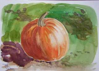 pumpkin watercolor by Catinka Knoth