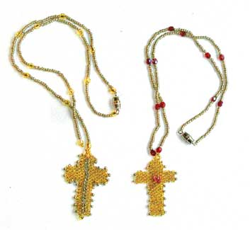 beaded jewelry crucifixes