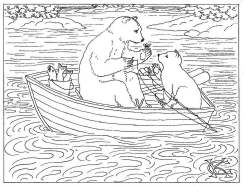 bears ink drawing