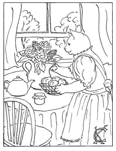 table setting coloring pages - photo #8