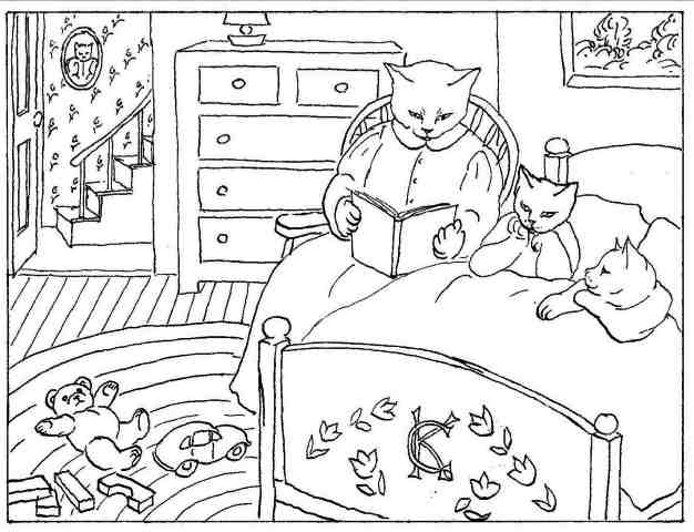 bed time coloring pages - photo #3
