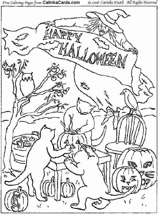 Halloween Coloring Pages Pictures Fun Stuff And Links