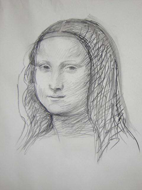 Mona Lisa After Leonardo Da Vinci By Catinka Knoth