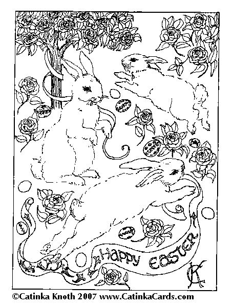 happy easter coloring sheets. Happy Easter! and an Easter