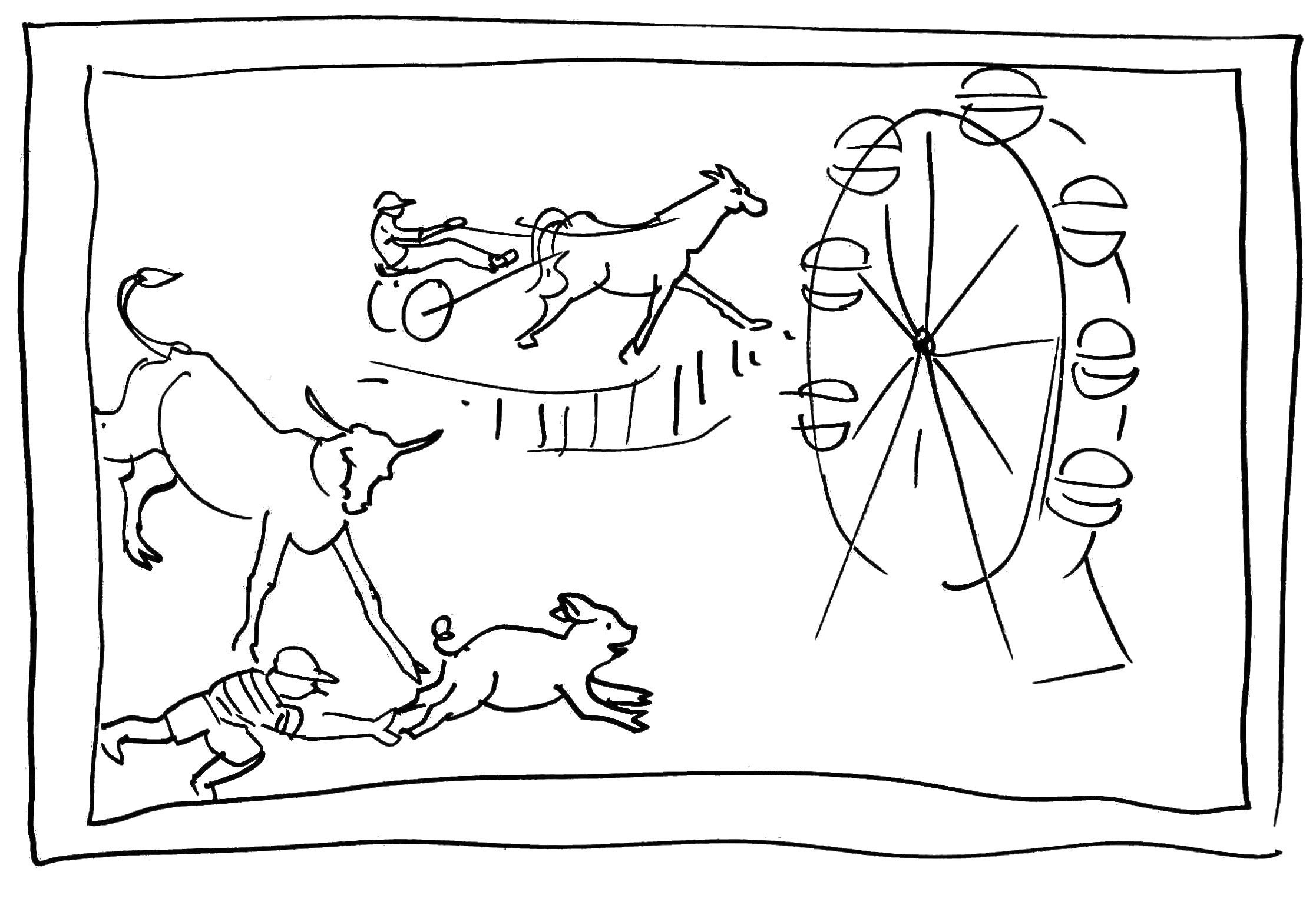 fun fair coloring pages - photo#31