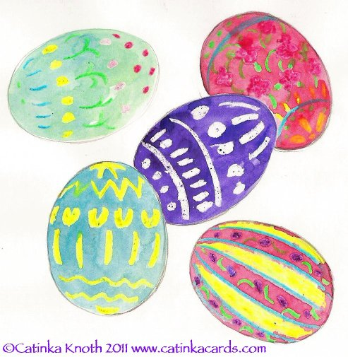 Easter eggs watercolor