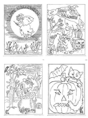 free halloween coloring page from catinkacards.com ©2006 Catinka Knoth All Rights Reserved