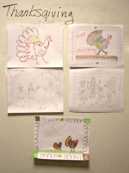 Thanksgiving student art