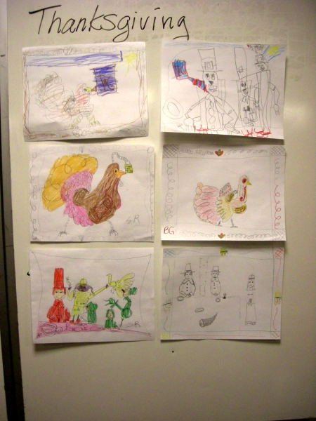 Thanksgiving student art