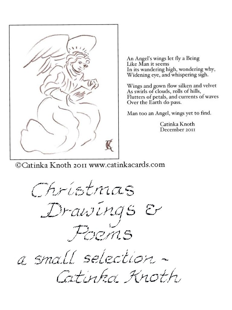 Christmas angel and poem
