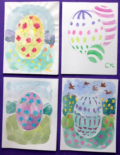 April Spring and Easter art by Catinka Knoth 02 Easter Egg card