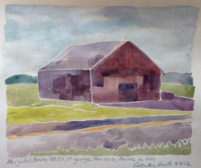 St. George buildings watercolor by Catinka Knoth 2