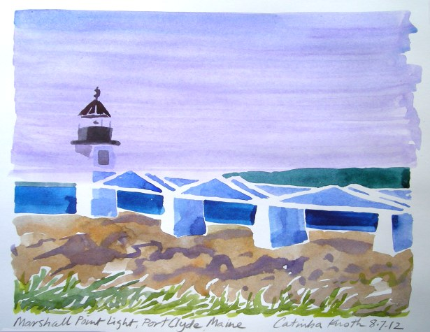 Marshall Point Light art by Catinka Knoth