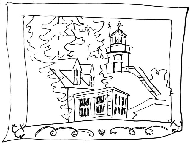 Owls Head Light demo drawing by Catinka Knoth