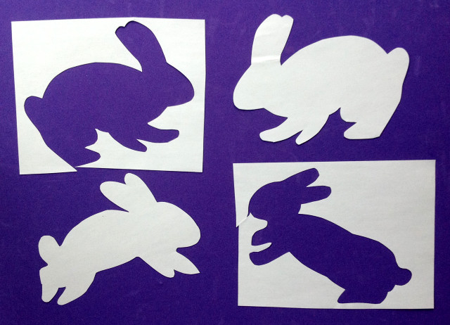 April Spring and Easter art by Catinka Knoth 01 Rabbit Papercuts