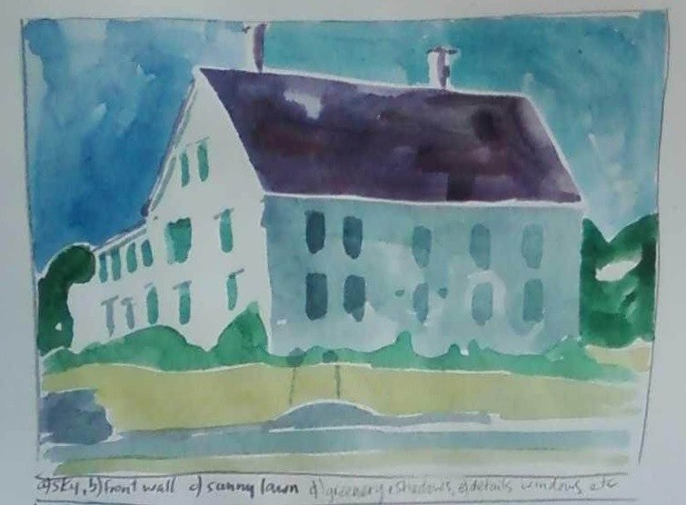 St. George buildings watercolor by Catinka Knoth 3
