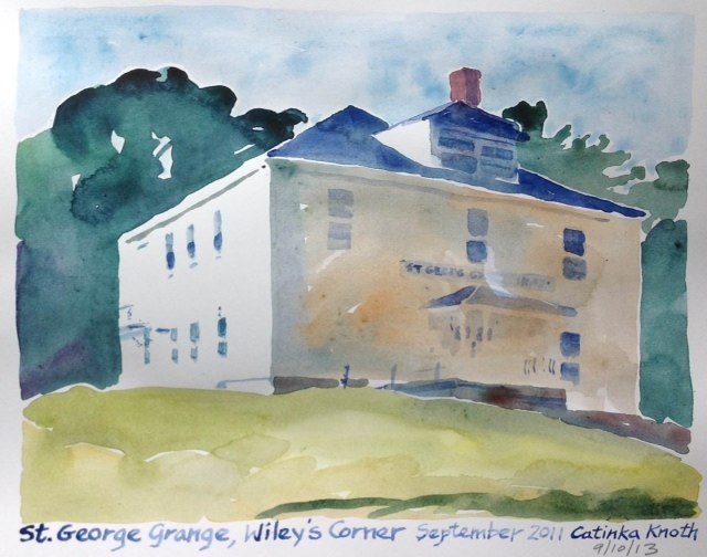 St. George buildings watercolor by Catinka Knoth 4