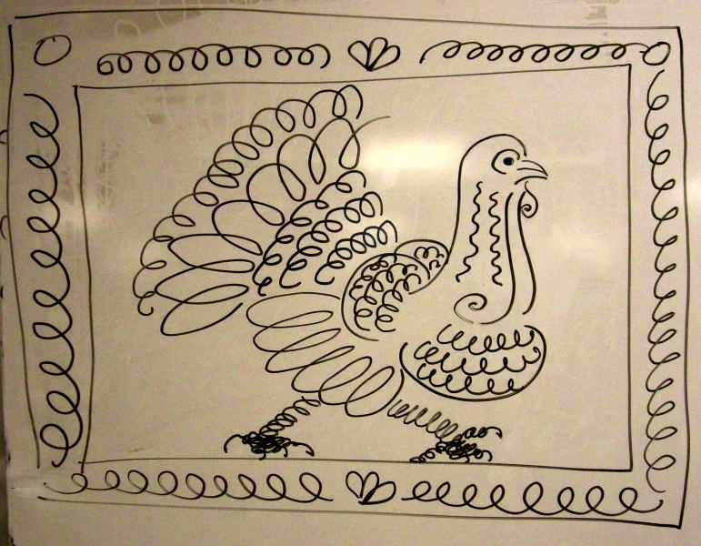 Thanksgiving demo drawings by Catinka Knoth
