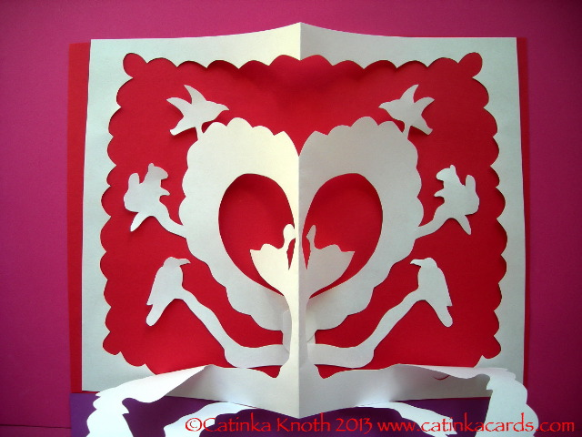 Valentine papercut art by Catinka Knoth