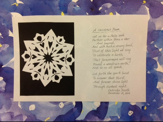 Christmas 2014 card and poem by Catinka Knoth