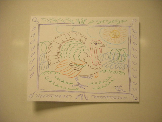 Turkey Calligraphy Flourish drawing