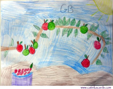 apples and apple bough kids art