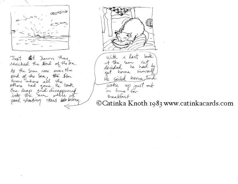 cat sea story storyboard sheet 3