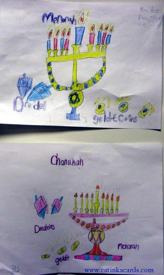 kids hanukkah art