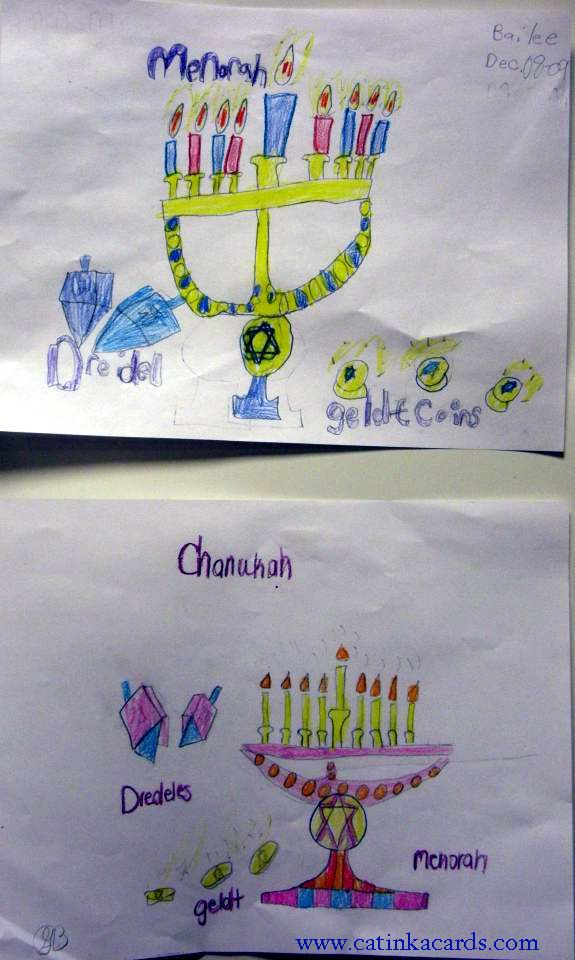 kids Hanukkah drawings