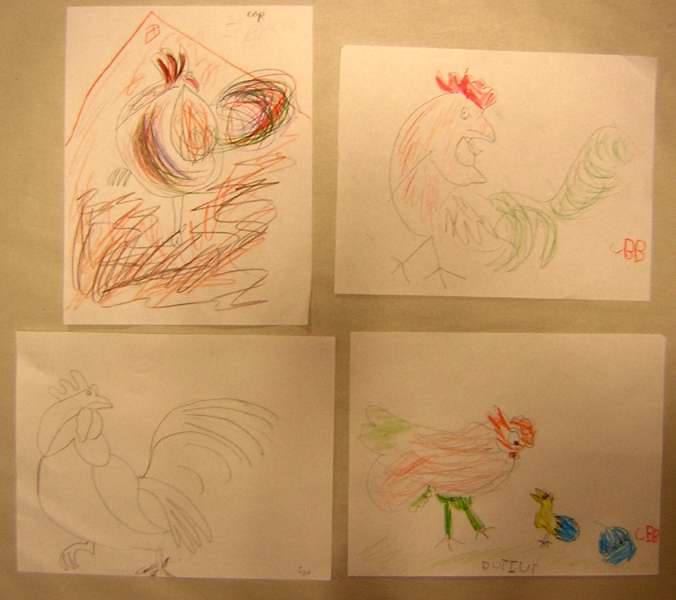 kids poultry art
