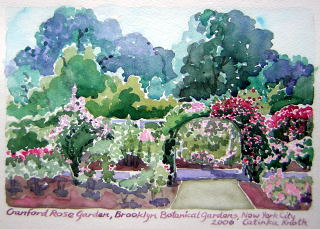 rose garden art