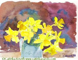 daffodil bouquet art