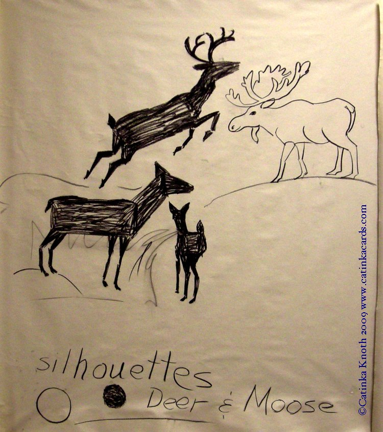 deer & moose demonstration drawing