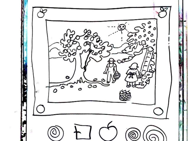 September themes drawing demo 2  Apple picking
