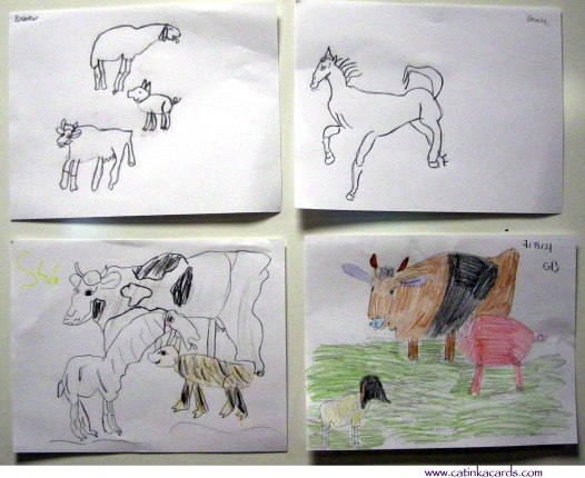 barnyard farm animals kids art
