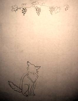 fox and grapes art