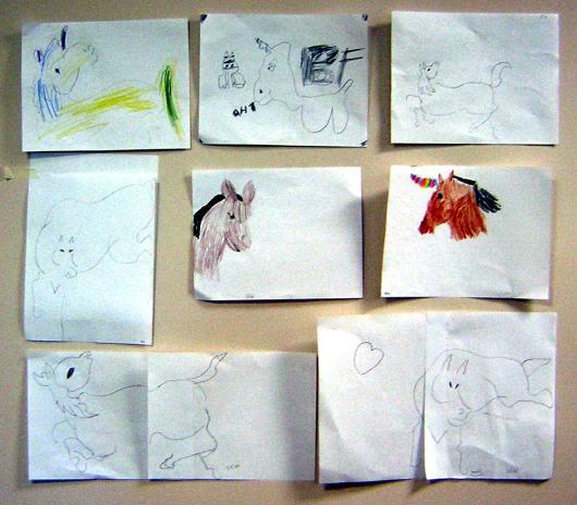 kids' horse art