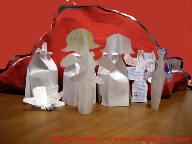 Kids Christmas paper ornaments