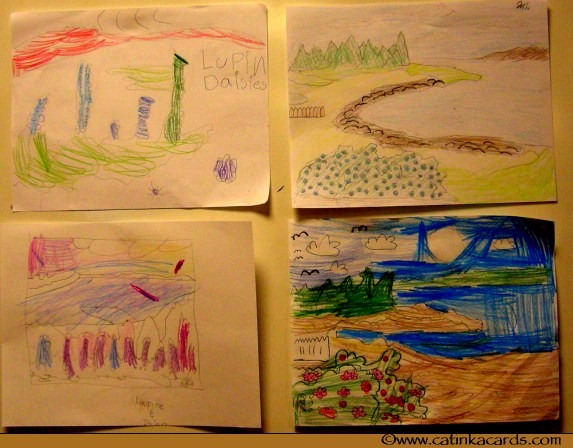 kids Maine scenes art