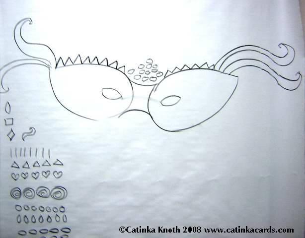 mardi gras mask drawing