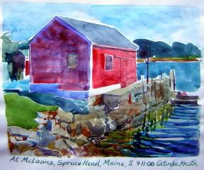mcloons wharf scene