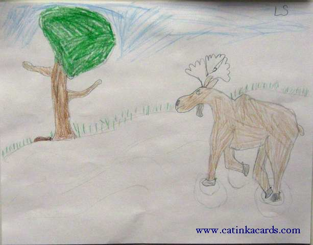 kids' moose art
