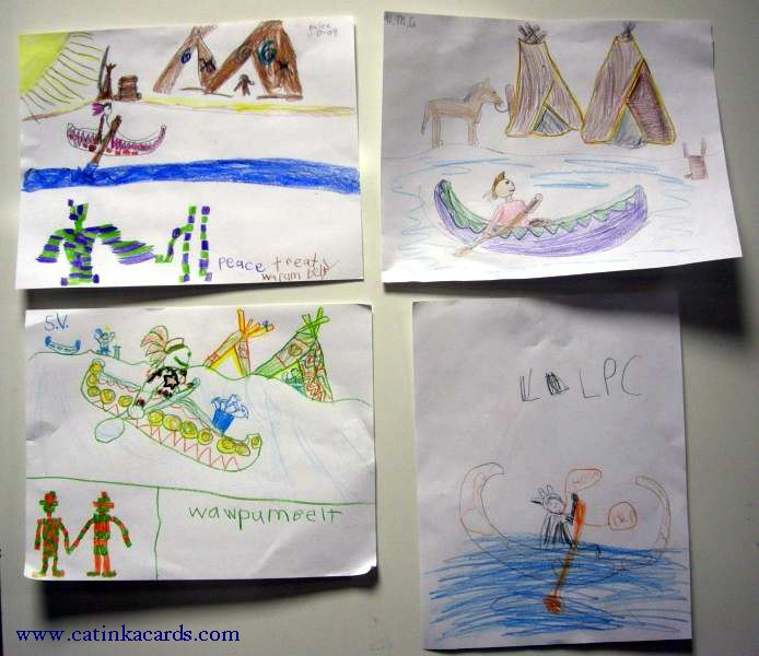 kids' Native American themed art