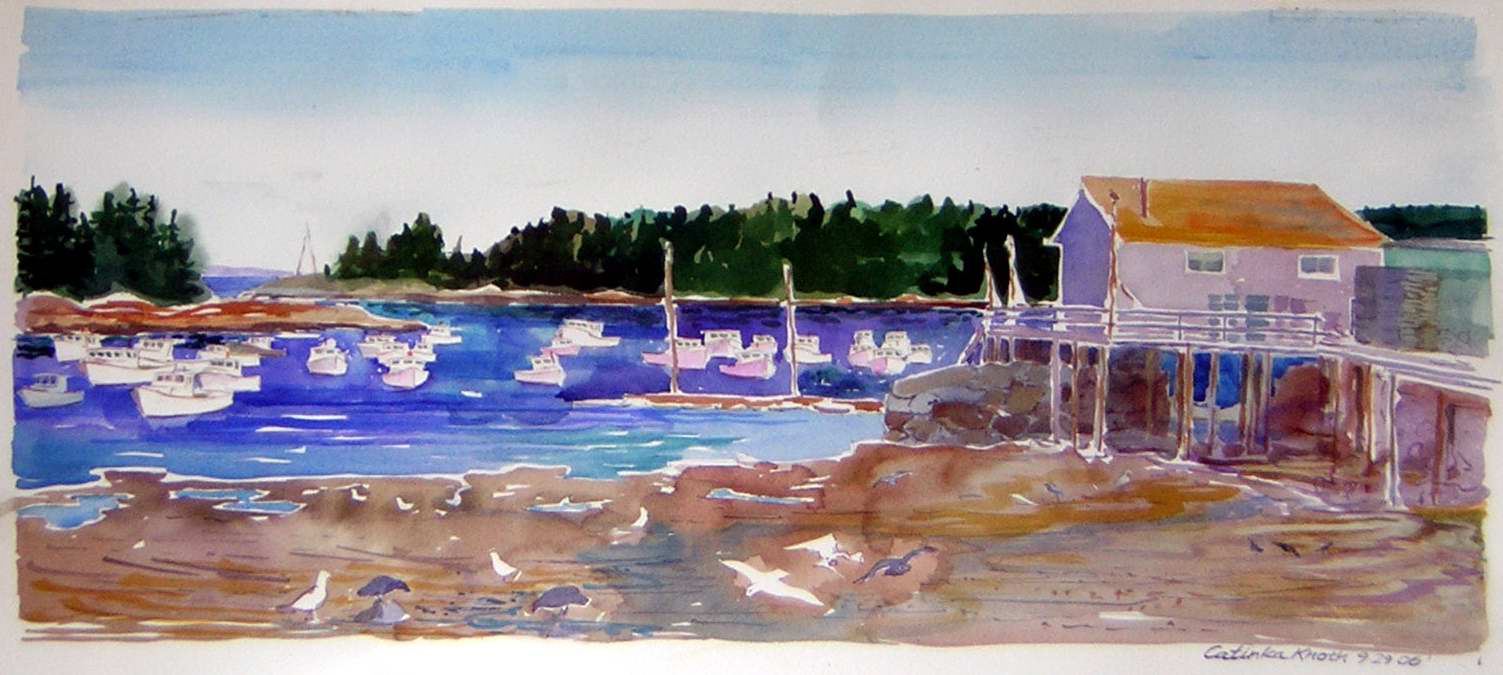 Owls Head Harbor painting