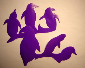 penguin papercut