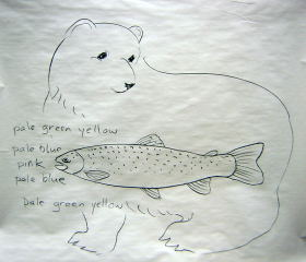 rainbow trout art